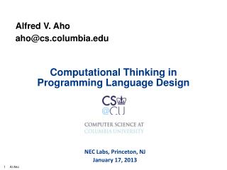Computational Thinking in Programming Language Design