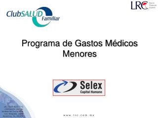 Programa de Gastos Médicos Menores