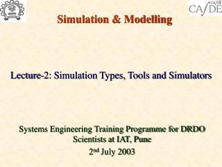 Simulation & Modelling