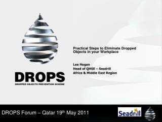DROPS Forum – Qatar 19 th  May 2011