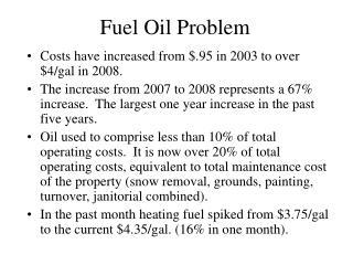 Fuel Oil Problem