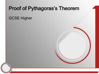 Proof of Pythagoras's Theorem