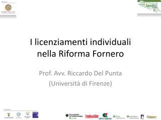 I licenziamenti individuali nella Riforma Fornero