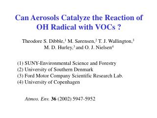 Can Aerosols Catalyze the Reaction of OH Radical with VOCs ?