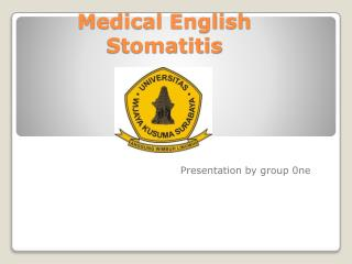 Medical English  Stomatitis