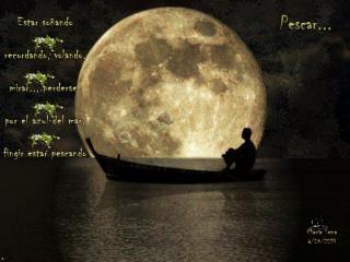 E star soñando recordando, volando, mirar.., perderse  por el azul del mar, fingir estar pescando