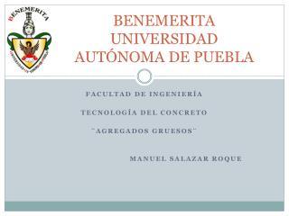 BENEMERITA UNIVERSIDAD AUTÓNOMA DE PUEBLA