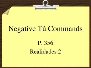 Negative T� Commands