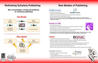 Rethinking Scholarly Publishing										  New Models of Publishing