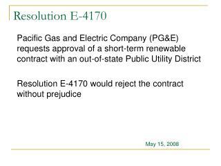 Resolution E-4170