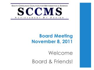 Board Meeting  November 8, 2011