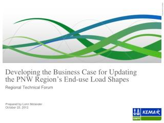 Developing the Business Case for Updating  the PNW Region's End-use Load Shapes
