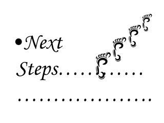 Next Steps…………………………..