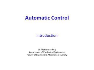 Automatic Control Introduction