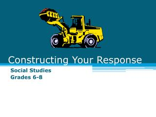 Constructing Your Response
