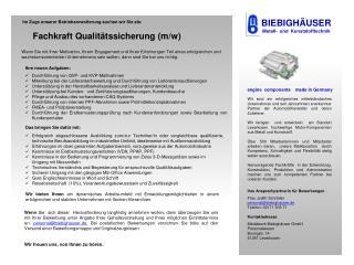 BIEBIGH�USER Metall-   und  Kunststofftechnik