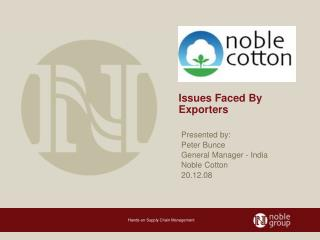 Issues Faced By Exporters