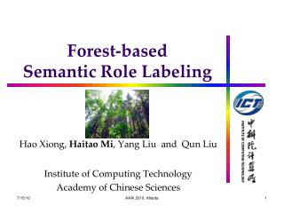 Forest-based  Semantic Role Labeling