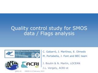 Quality control study for SMOS data / Flags analysis