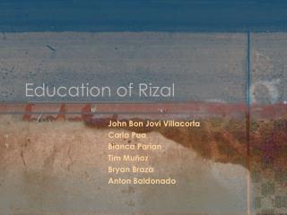 Education of  Rizal