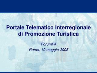 Portale Telematico Interregionale di Promozione Turistica