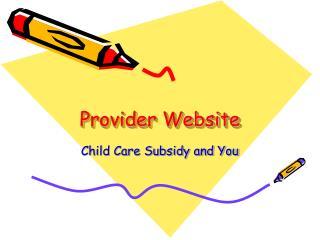 Provider Website