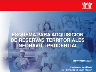 ESQUEMA PARA ADQUISICION DE RESERVAS TERRITORIALES INFONAVIT - PRUDENTIAL