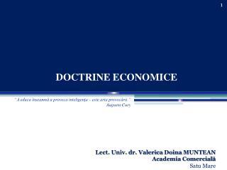 DOCTRINE ECONOMICE