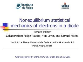 Nonequilibrium statistical mechanics of electrons in a diode