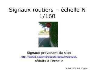 Signaux routiers – échelle N 1/160