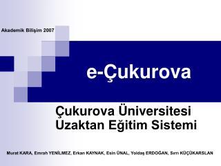 e-Çukurova