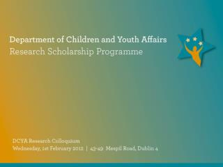 Presentation by:					Dr Carmel Smith	 Presentation Title: 					Qualitative Research with Children: