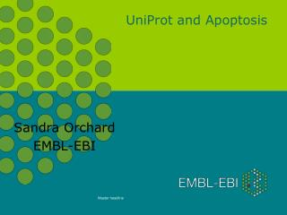 UniProt and Apoptosis