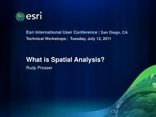 What is Spatial Analysis?