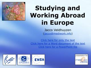 Studying and Working Abroad  in Europe