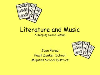 Literature and Music A Keeping Score Lesson