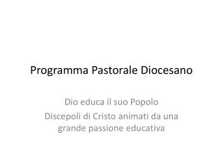 Programma Pastorale Diocesano