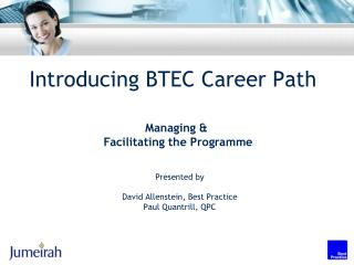 Introducing BTEC Career Path