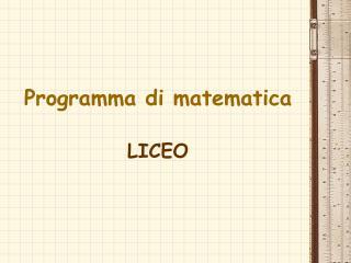 Programma di matematica