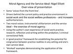 Moral Agency and the Service Ideal: Nigel Elliott Over-view of presentation