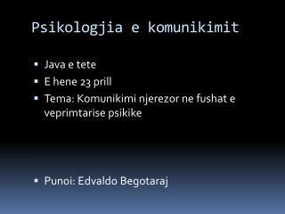 Psikologjia e komunikimit