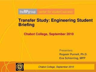 Transfer Study: Engineering Student Briefing