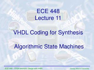 VHDL Coding for Synthesis