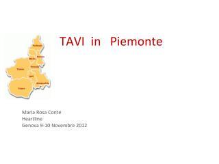 TAVI  in   Piemonte