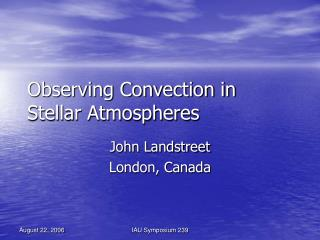 Observing Convection in Stellar Atmospheres