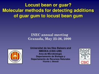 Locust bean or guar?  Molecular methods for detecting additions of guar gum to locust bean gum