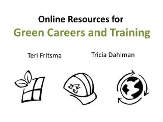 Online Resources for  Green Careers and Training