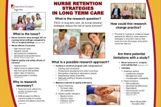 NURSE RETENTION  STRATEGIES IN LONG TERM CARE