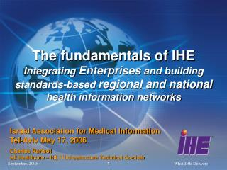 Israel Association for Medical Information Tel-Aviv May 17, 2006