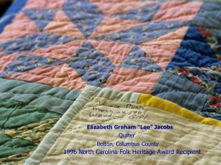 Elizabeth Graham  Lee  Jacobs